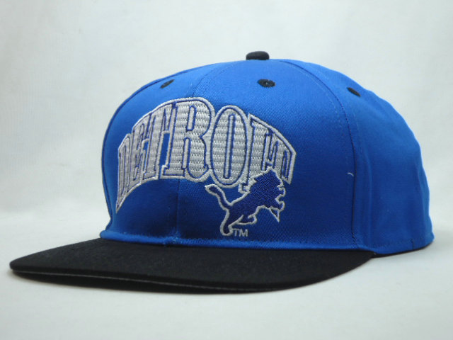 Detroit Lions Blue Snapback Hat SF